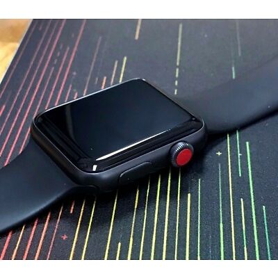 Apple Watch Series 3 Type Red Dot Crown Stickers x4 (also fits series 1 & 2)