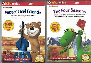 baby genius The Four Seasons / Mozart and Friends DVD - Lot of 2