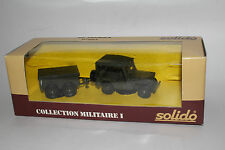 SOLIDO MILITARY #6034 WILLYS JEEP WITH TRAILER, U.S. ARMY, 1:50, NEW IN BOX #2