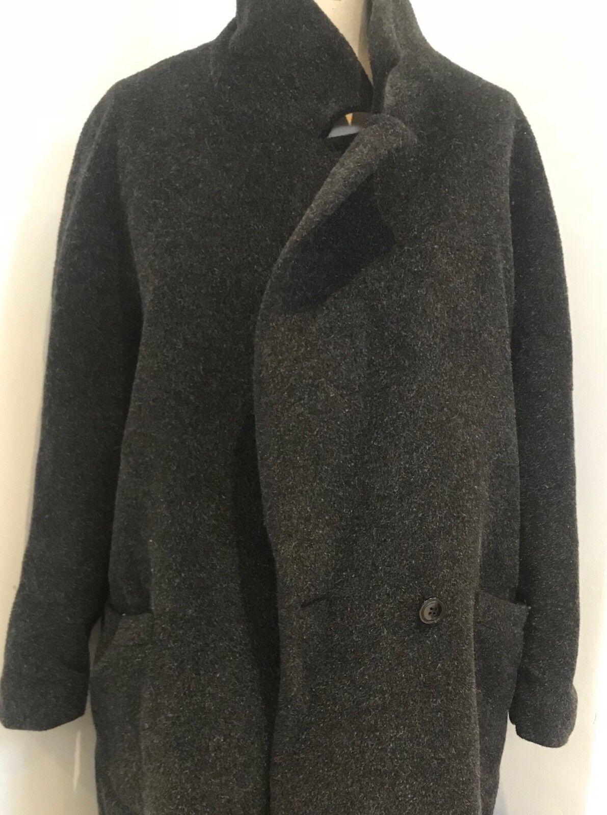 Jeff Banks Grau wool and alpaca Damens's winter Coat