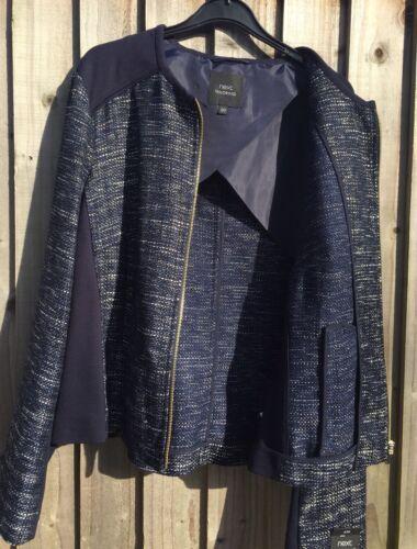 Tailoring Next Jakke Suit 20 Bnwt Navy Fremragende Tilstand Størrelse a5dwqd1