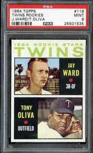 1964-TOPPS-116-WARD-TONY-OLIVA-PSA-9-RC-TWINS-ROOKIES-CENTERED-ADT3412