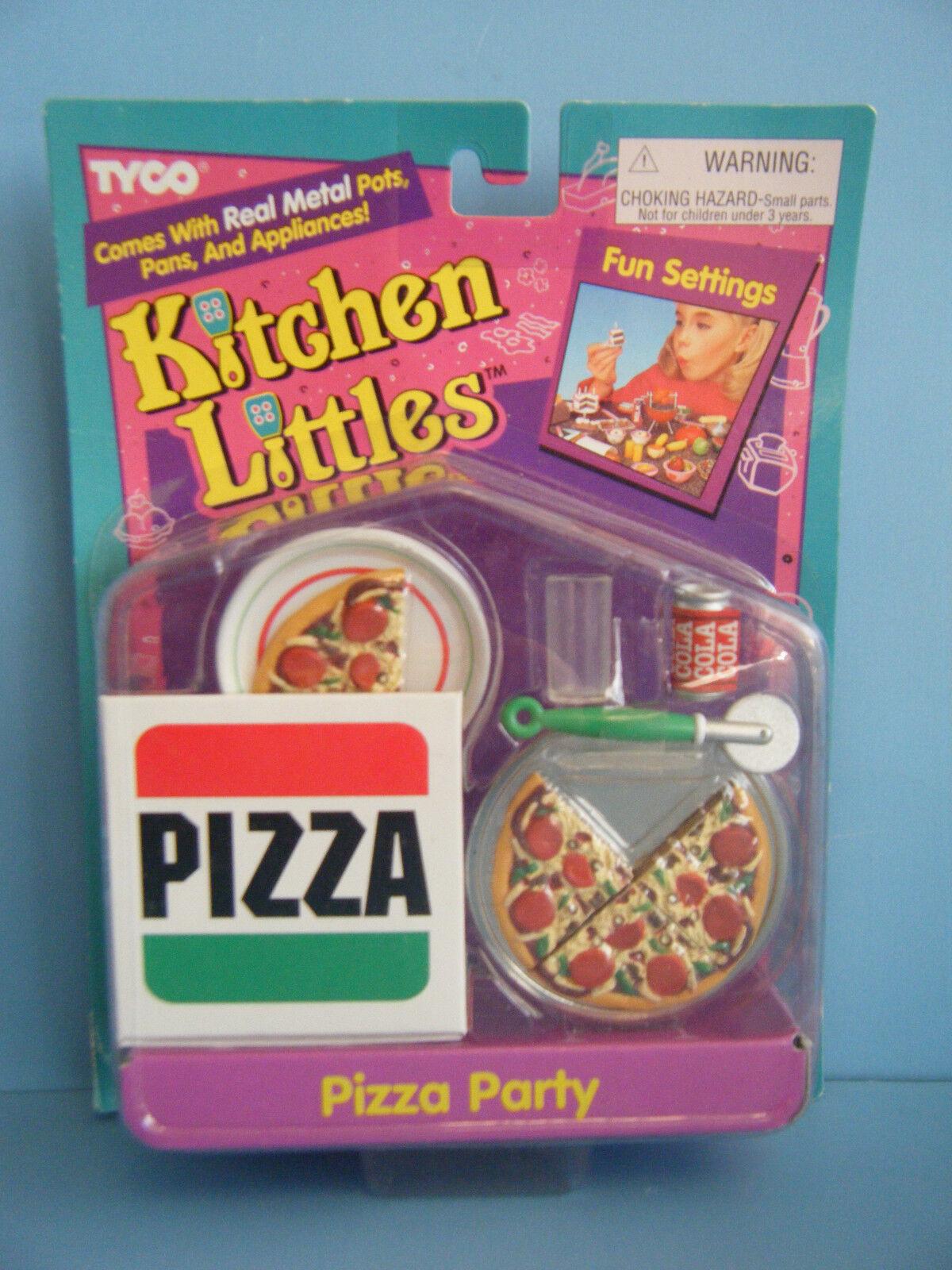 BARBIE KITCHEN LITTLES PIZZA PARTY SET *NEW*