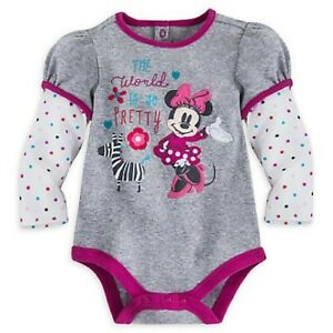 Disney-Minnie-Mouse-Baby-Bodysuit-NWT-41-7-OFF-Girls-size-3-6-M-size-12-18-M