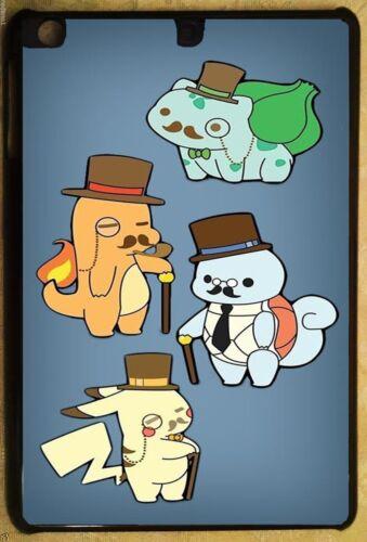 Pokemon Go Gentlemen Apple iPad Mini 1//2//3 /& iPad Air 1G Case Cover White Black