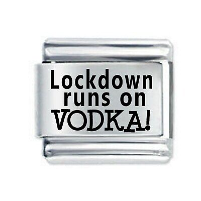 Lockdown Birthday Etched Italian Charm Compatible with Nomination Charms and Bracelets