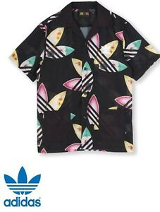 brand new fde28 a75ac Image is loading ADIDAS-Originals-Trefoil-Pharrell-Williams-Surf-Shirt -Summer-