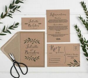 Woodland-Kraft-Wedding-Invitation-Set