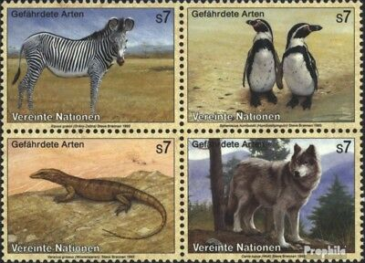 Beautiful Un-vienna 143-146 Block Of Four (complete Issue) Used 1993 Affe