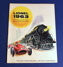 Lionel 1963 Catalog - 027 / Super O / HO / Standard Trains & HO Motor Racing NEW