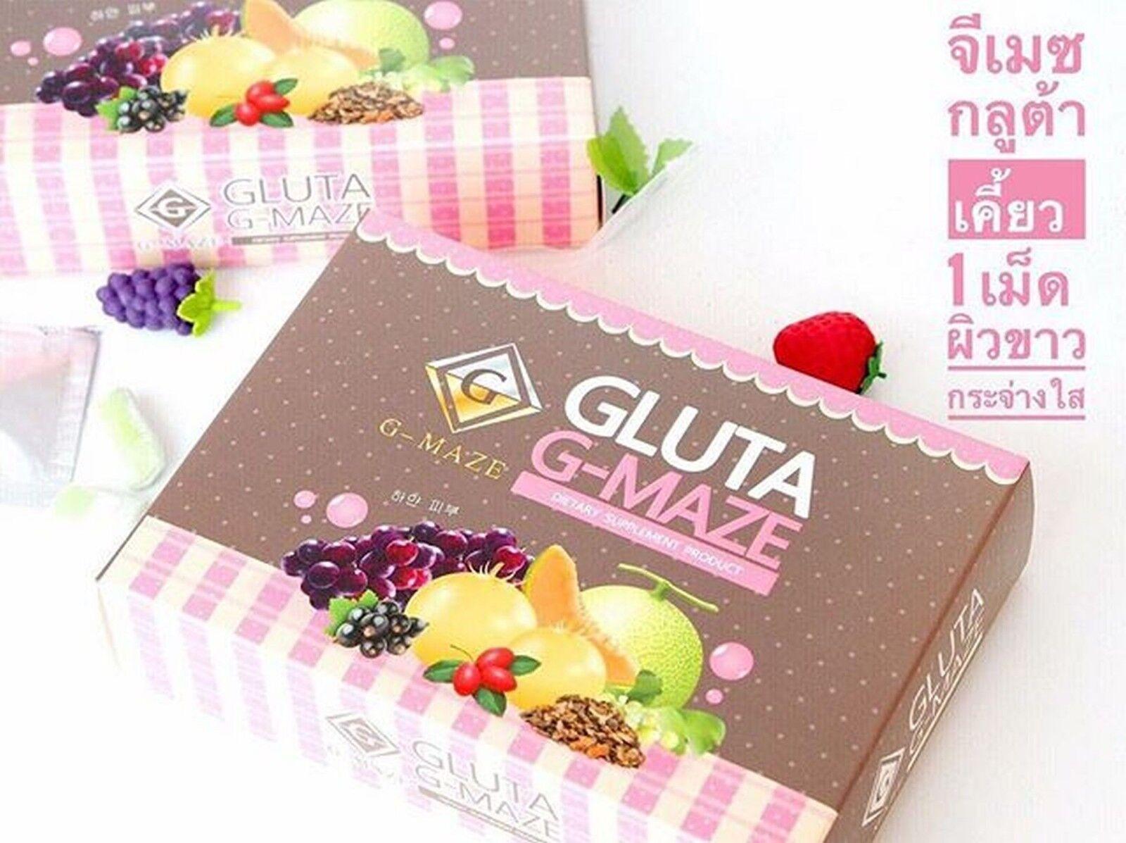 4x Gluta G-maze Fast & Safe Way to Whitening Skin Edible Glutathione