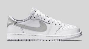 06bf3bf2ec30a9 Nike Air Jordan 1 Retro Low OG White Neutral Grey size 13. 705329 ...