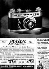 Print. 1939. Perfex 35 mm Camera Advertisement