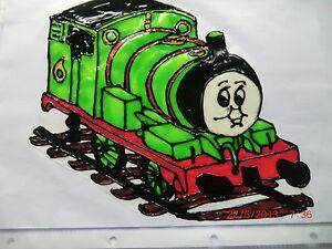 Gabis Window Color Fensterbilder Deko Kinder lustige Eisenbahn Thomas /& Co