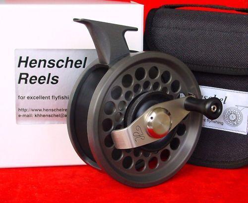 HENSCHEL ANTI REVERSE  5, line 1320 saltwater fly reel   Reel foot Forward