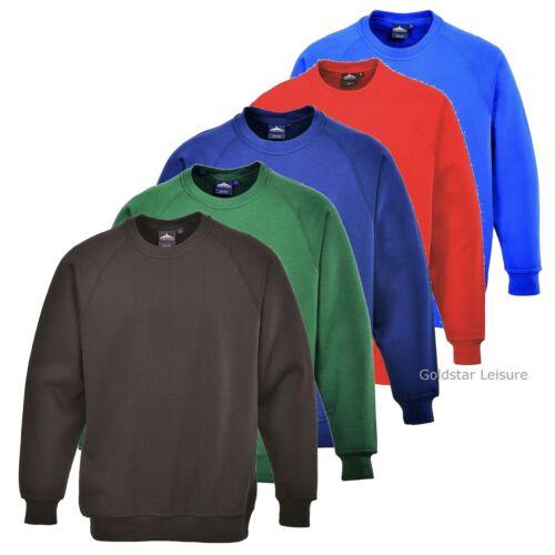 Portwest Roma Sweatshirt Jumper Plain Blank Casual Work Sports Work XS-5XL B300