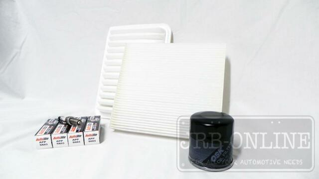 Suits TOYOTA COROLLA ZRE152 upto 12/08 OIL AIR CABIN FILTER & SPARK SERVICE KIT