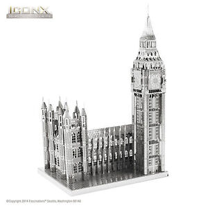 Fascinations-Metal-Earth-ICONX-BIG-BEN-3D-Laser-Cut-Steel-Puzzle-DIY-Model-Kit