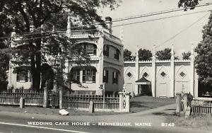 Real Photo Wedding Cake House Kennebunk Maine Me Postcard Ebay