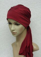Turban hat with ties, chemo head wear, head covering for hair loss, chemo hat