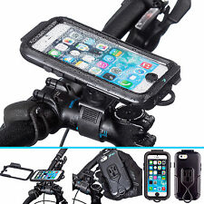 Bicycle Locking Strap Bike Mount + Water Resistant Hard Case for iPhone 6 6s 4.7
