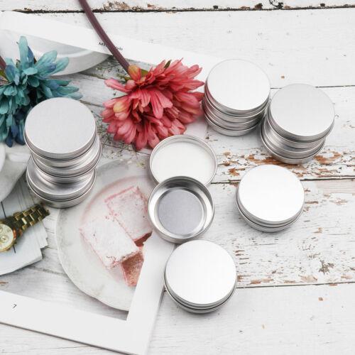 30 Metal Tin Storage Jar Containers Screw Top Lids Storing Make Up Candles Box