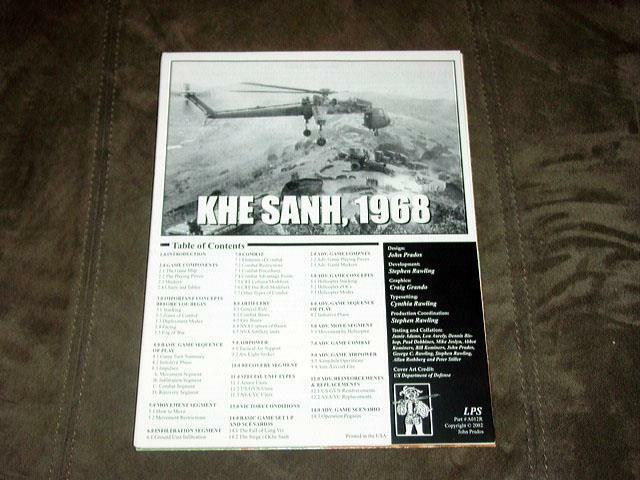 Lps prados spiele 2002 - khe sanh spiel - 1968 - vietnam - krieg (unpunched)