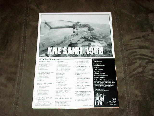 LPS Prados giocos 2002 - KHE SANH  gioco - 1968 - Vietnam War (Unpunched)  vendita outlet