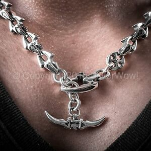 Shark-Link-Mens-Necklace-Very-Unusual-Design-SOLID-925-Sterling-Silver