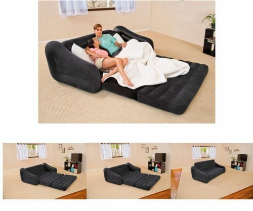Intex C8 Pull Out Queen Inflatable Air Sofa With Bed Mattress