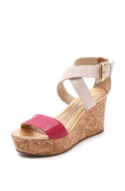 c12c817f112 Couture Forrest Cork Wedge Sandals color-Block Pink NWB Sz 8.5 & 9.5 ...