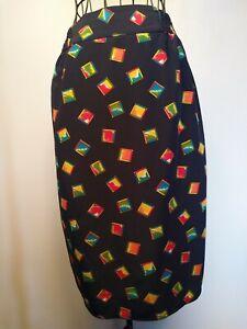 Diane-Freis-Vintage-80-039-s-Skirt-work-formal-retro-pencil-skirt-retro-print