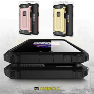 pretty nice 612ca fb629 Details about For OnePlus 5T Case Dual Layer Shockproof Hybrid Armor Rugged  Rubber Hard Cover