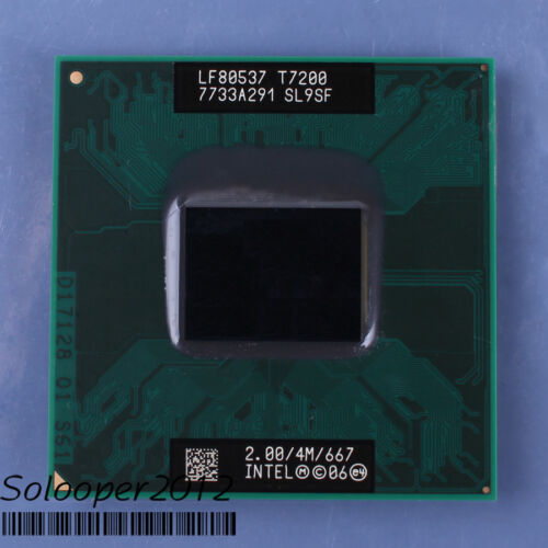 CPU Processor SL9SF Free shipping Intel Core 2 Duo Mobile T7200