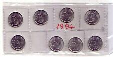 Repubblica Italiana  5 lire 1994  Delfino italma   FDC (8 pezzi)