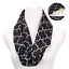 JASGOOD Women Black Scarf with Zipper Secret Pocket Perfect Gift for Any Season