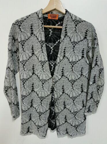 Maglione anni Vintage Donna Cardigan Cardigan Missoni '90 B0wxqO5qX