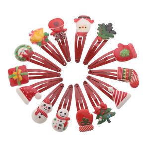 Mignon-Cadeau-Pince-BB-Pere-Noel-Pince-a-cheveux-pour-bebe-Pince-a-cheveux-Noel