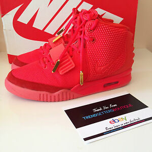 NIKE AIR YEEZY 2 RED OCTOBER US 9 UK 8 KANYE WEST 508214-660 LEGIT ... bb8feb377
