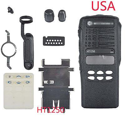 Black Repair Housing Case for Motorola HT1250 Handheld