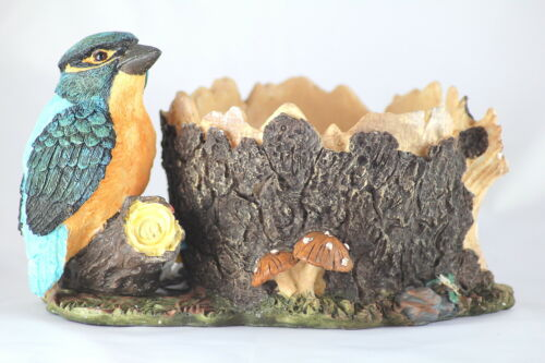 KINGFISHER PLANT POT HOLDER takes 5 inch pot DECORATIVE GIFT FOR PLANT DISPLAY