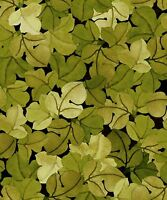 Fabric 2208 Autumn Harvest Green Leaves Jason Yenter Itb End Of Bolt At 48-1/4