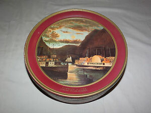 VINTAGE-CURRIER-amp-IVES-NIGHT-ON-THE-HUDSON-FRANCIS-SKIDDY-PADDLE-WHEEL-LARGE-TIN