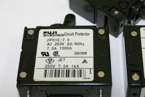 Details about  /Lot of 3 Fuji Electric CP31E//7.5 Circuit Protectors