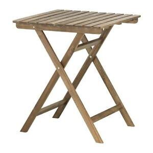 Gentil ... Ikea Table Pliante Askholmen Acacia Table De Jardin