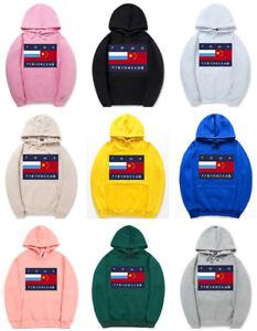 Men-039-s-Women-Hoodie-Gosha-Rubchinskiy-Flag-Logo-Hip-Hop-Sweatshirt-Hoody-Pullover
