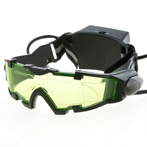 Fluorescent Green Lights Head Lamp Night Vision Tinted Goggles with Dual LED