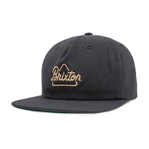 BRIXTON-NEWBURY-SNAPBACK-CAP-BLACK
