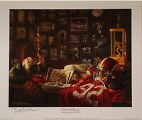 "Alabama football ""Crimson Legacy"" print signed by Daniel Moore"