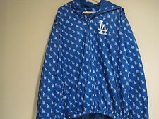 Vintage LA Dodgers Jacket Logo Blue White Hood GIII Sports Carl Banks XL